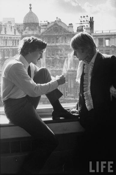 Adam with David Hemmings