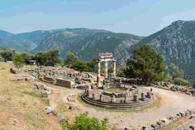 Apollo's Temple, home of the Oracle at Delphi
