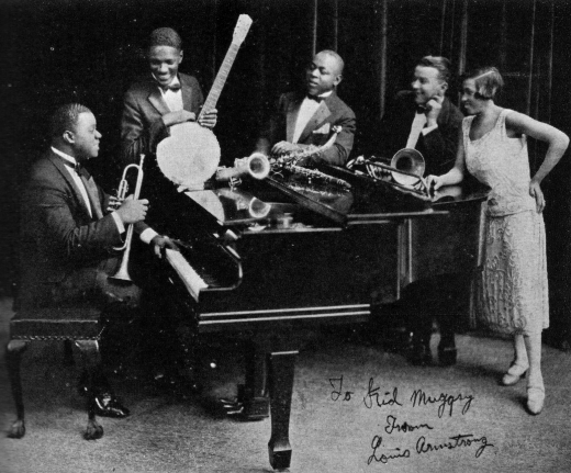 Louis Armstrong and His Hot Five, featuring Armstrong, Johnny St. Cyr, Johnny Dodds, Kid Ory, and Lil Hardin Armstrong